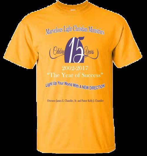 Church Anniversary 2017 T Shirts Adult Size 4xl The