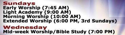 New Worship Service Times!